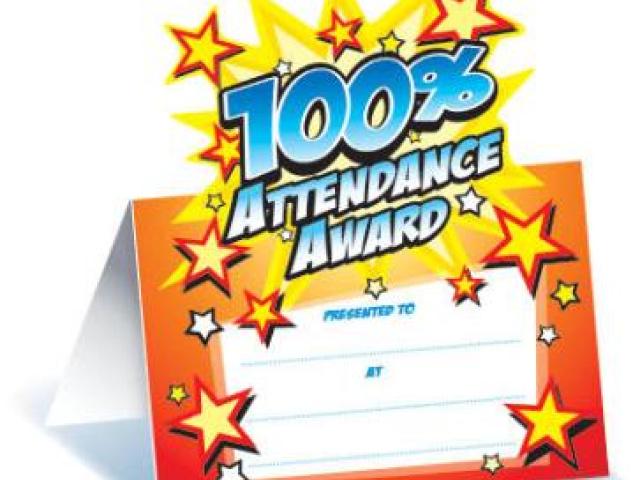 100% Attendance Spring Term